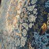 فرش 1000 شانه الماس کویر طرح استانبول آبی