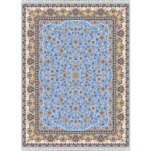 فرش شاهکار صفویه طرح افشان کد ۳۸۳۰ زمینه آبی
