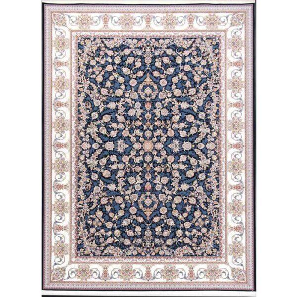 فرش ماشینی الماس کویر طرح 1222 زمینه سرمه ای