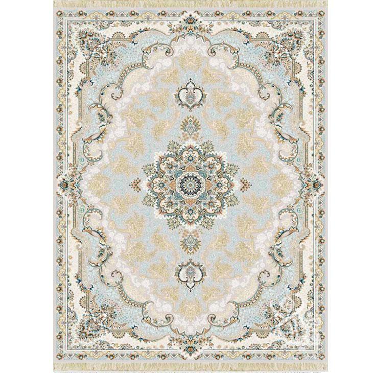 فرش ماشینی قیطران طرح آناهیتا زمینه نسکافه ای