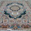 فرش 700 شانه الماس کویر طرح حوض نقره سرمه ای
