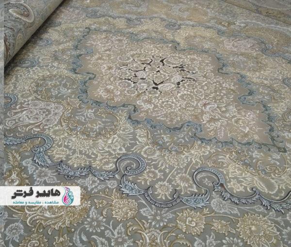 فرش قیطران طرح کیانا زمینه فیلی