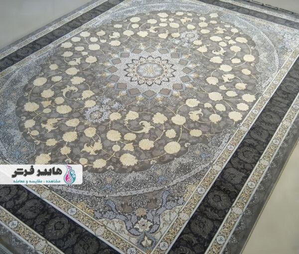 فرش قیطران طرح میترا زمینه طوسی
