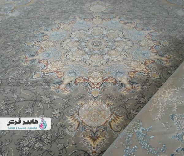 فرش قیطران طرح پانیذ زمینه فیلی