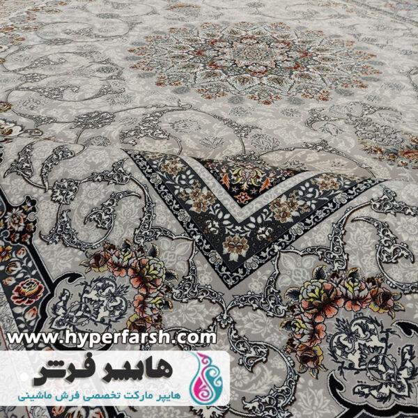 فرش پامچال طرح باغ بهشت سیلور