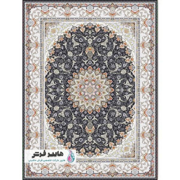 فرش پامچال طرح باغ بهشت سربی